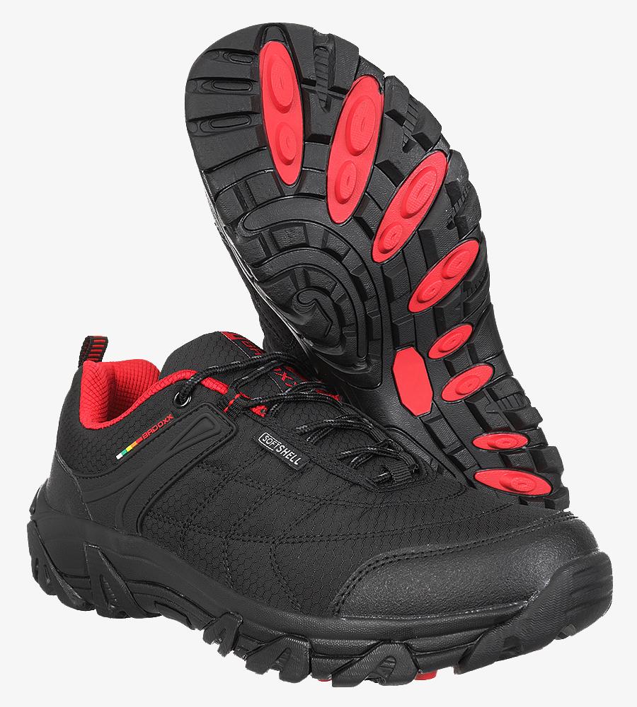 Czarne buty trekkingowe sznurowane Casu MXC8100 kolor czarny