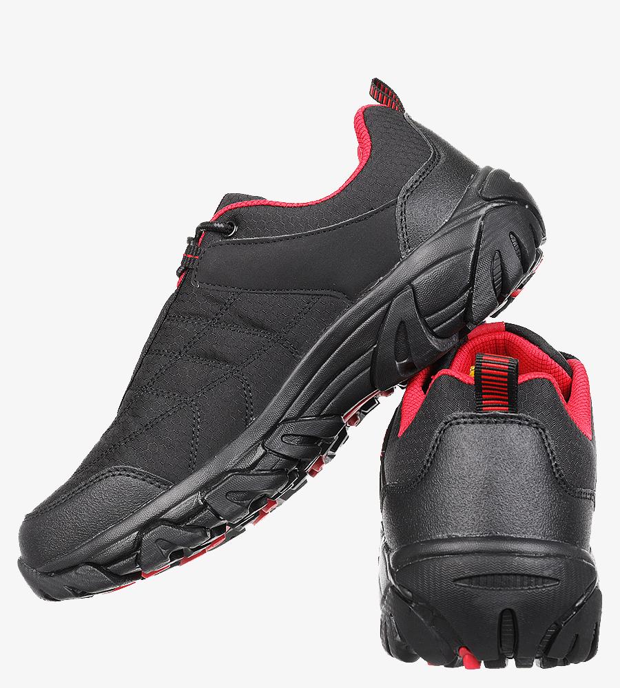 Czarne buty trekkingowe sznurowane Casu MXC8100 wysokosc_platformy 1.5 cm