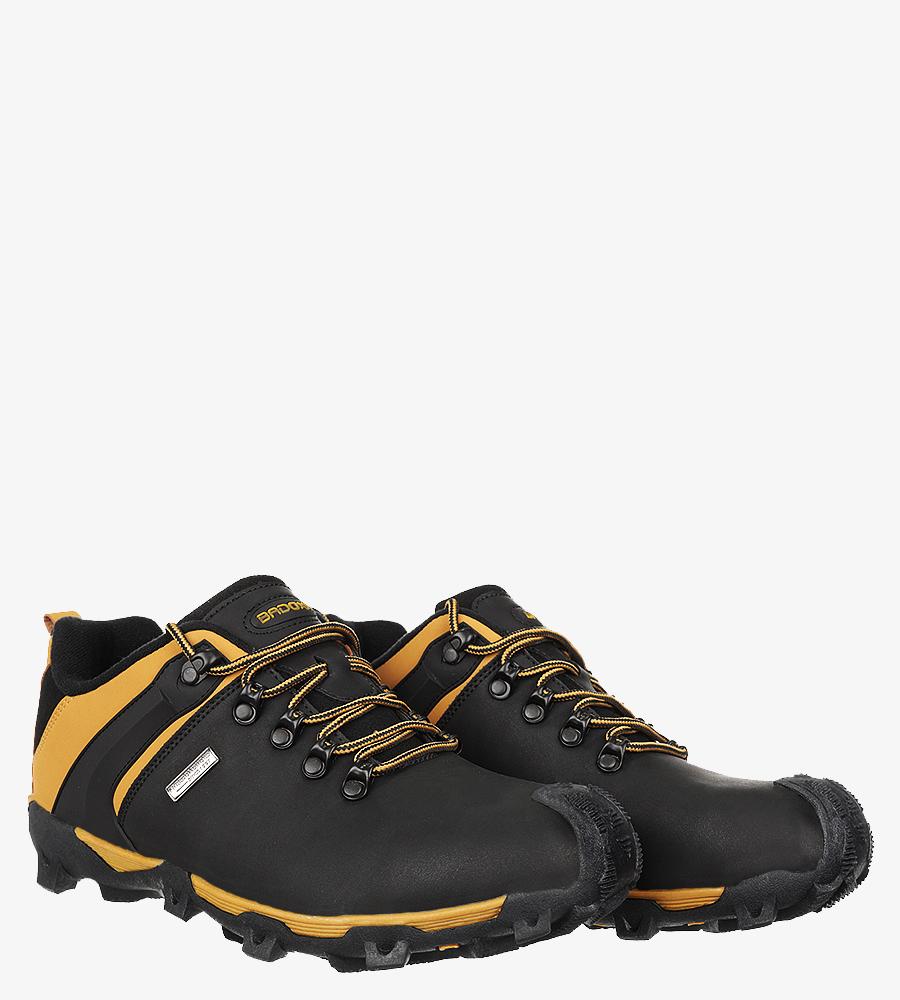 Czarne buty trekkingowe sznurowane Casu MXC8845 czarny