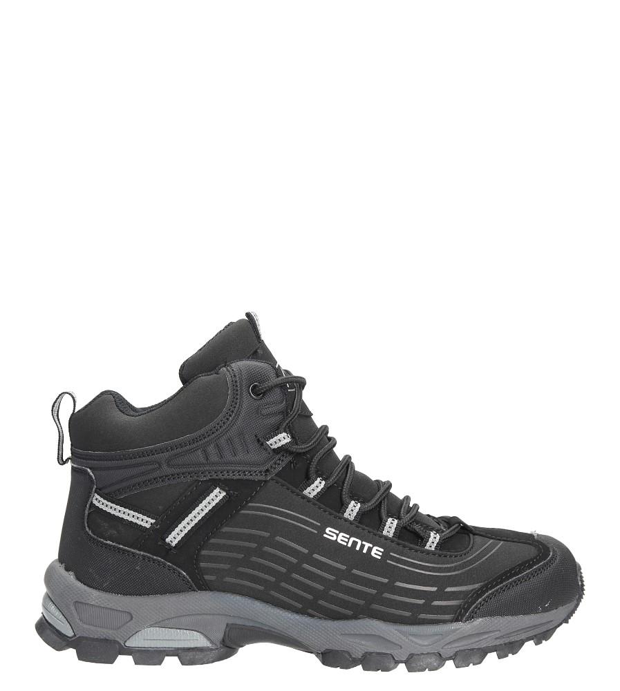 Czarne buty trekkingowe sznurowane softshell Casu A1527-1 czarny