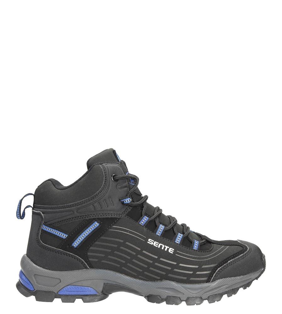 Czarne buty trekkingowe sznurowane softshell Casu A1527-2