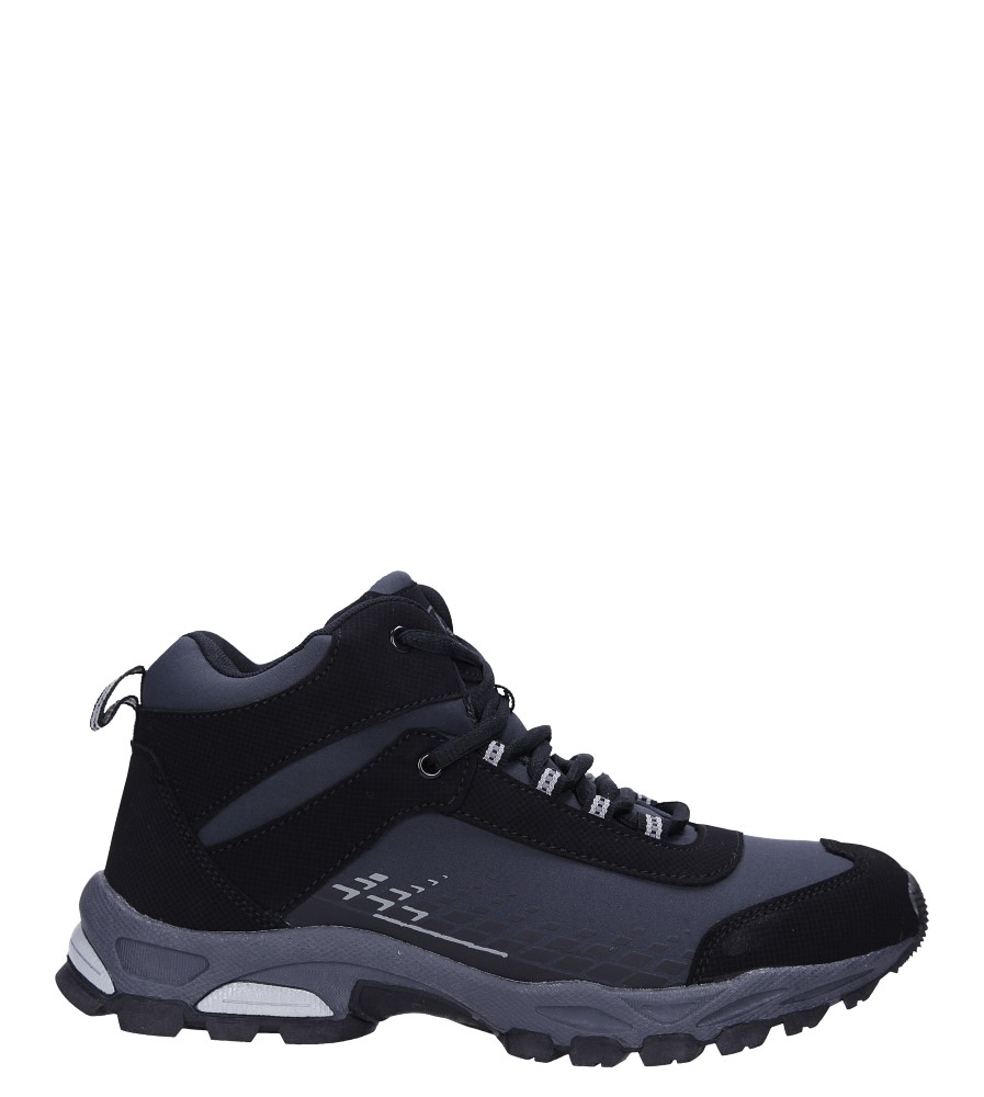Czarne buty trekkingowe sznurowane softshell Casu A1811-1