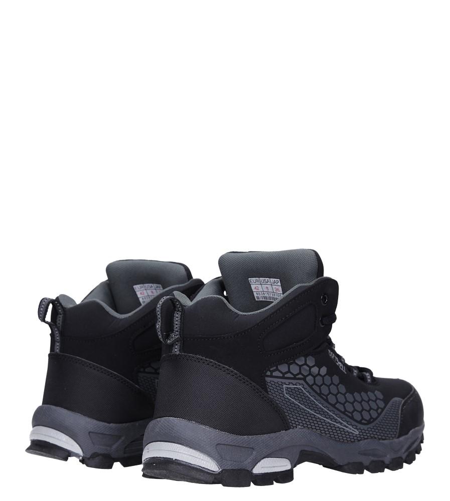 Czarne buty trekkingowe sznurowane softshell Casu A1813-1 wysokosc_obcasa 3 cm