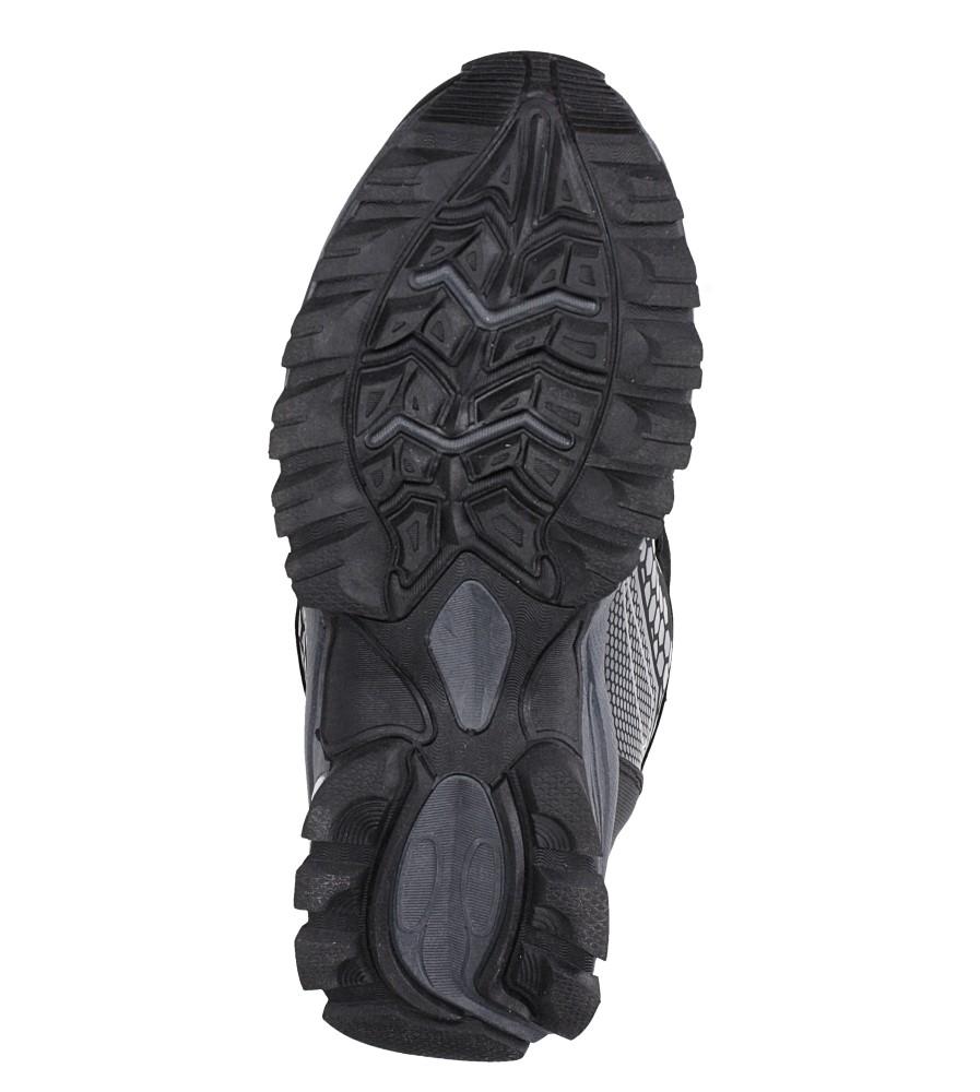 Czarne buty trekkingowe sznurowane softshell Casu A1813-1 wys_calkowita_buta 15 cm