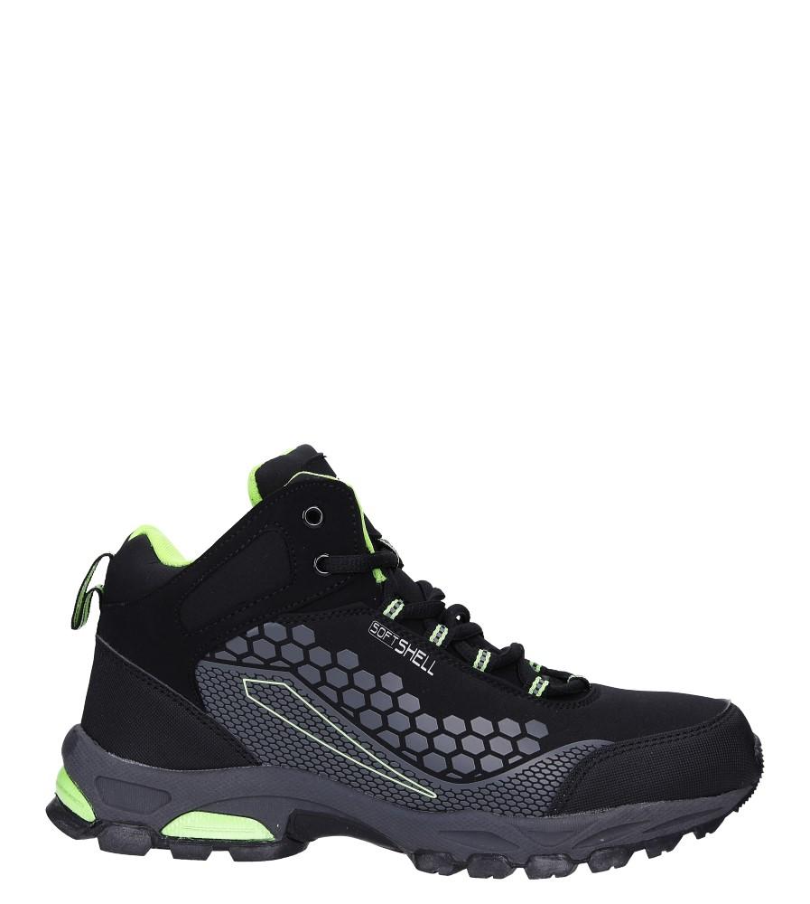 Czarne buty trekkingowe sznurowane softshell Casu A1813-2