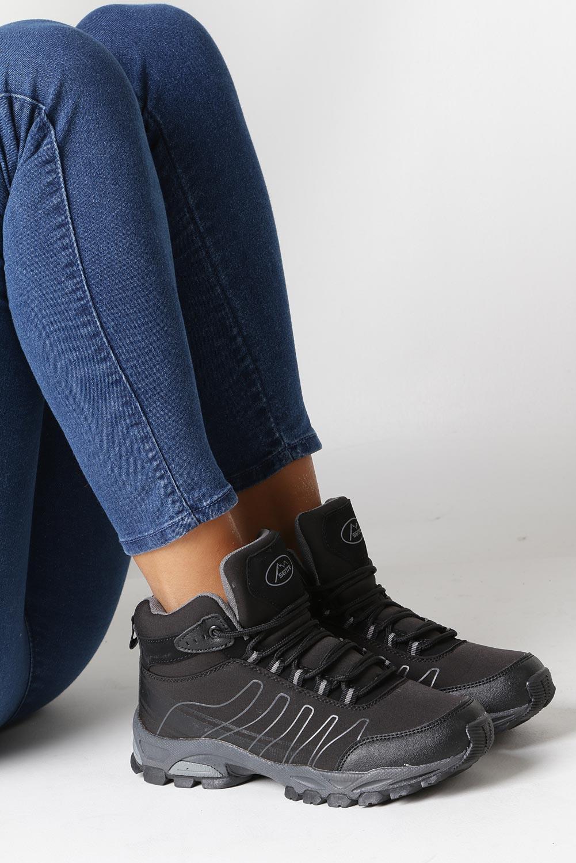 Czarne buty trekkingowe sznurowane softshell Casu B1530-1 wysokosc_obcasa 3.5 cm