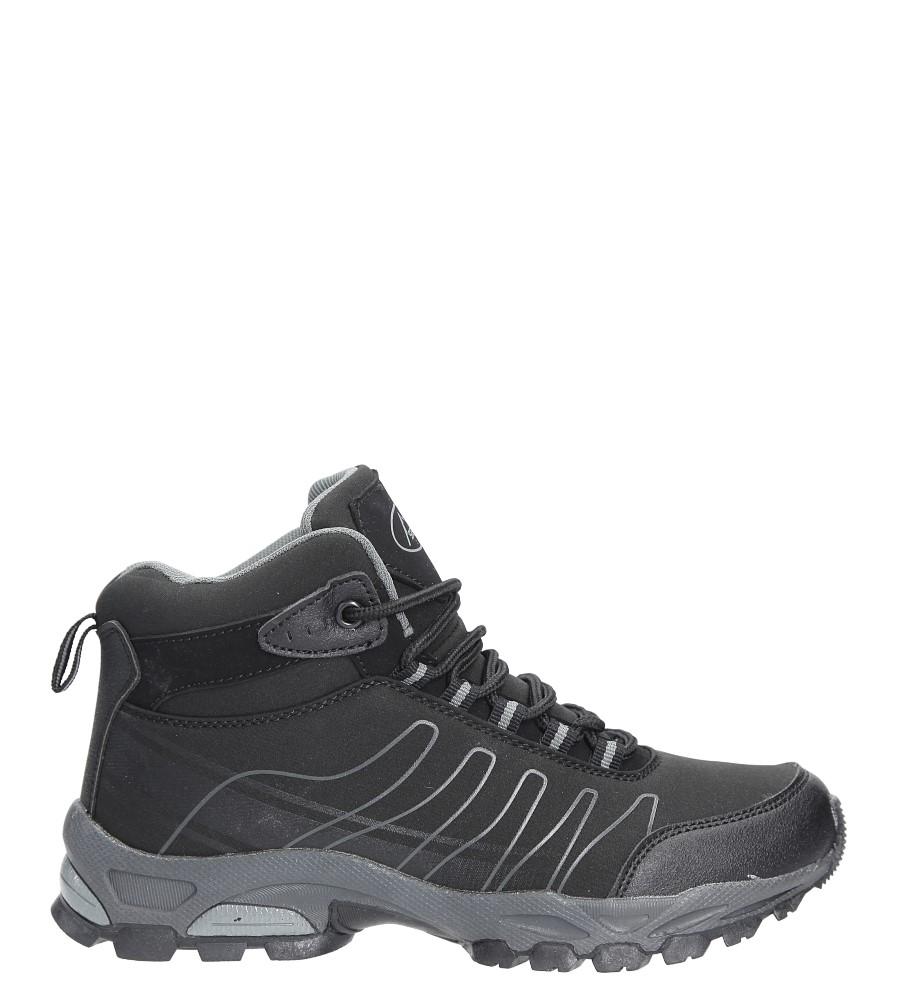 Czarne buty trekkingowe sznurowane softshell Casu B1530-1 wys_calkowita_buta 15 cm