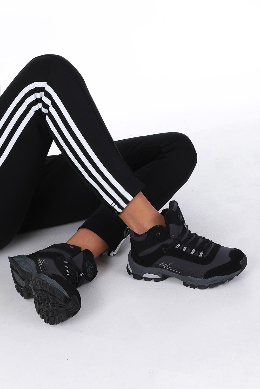 Czarne buty trekkingowe sznurowane softshell Casu B1811-1 czarny
