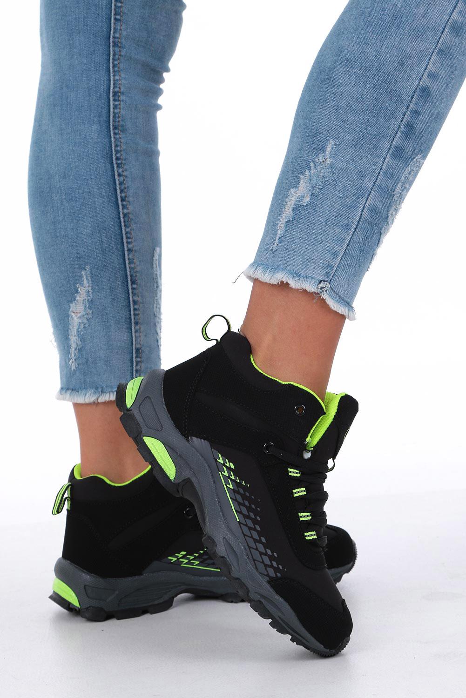 Czarne buty trekkingowe sznurowane softshell Casu B1811-2 czarny