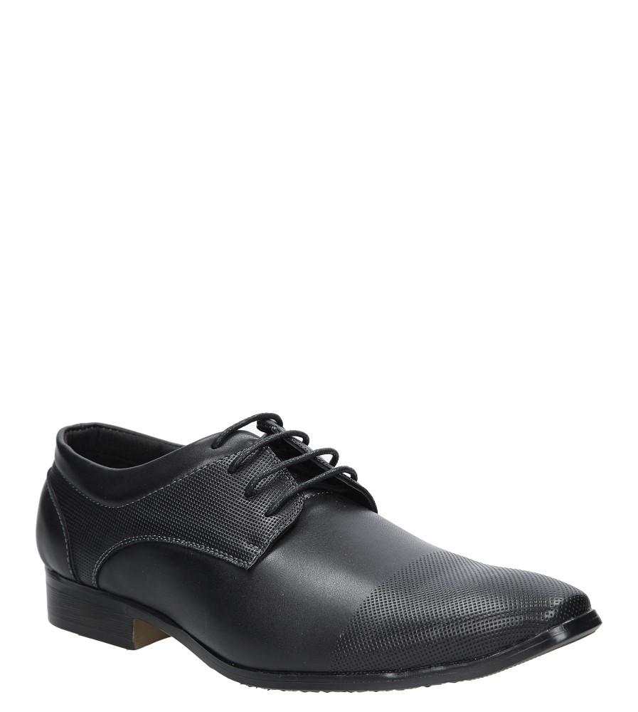 Czarne buty wizytowe American SGD2017-9