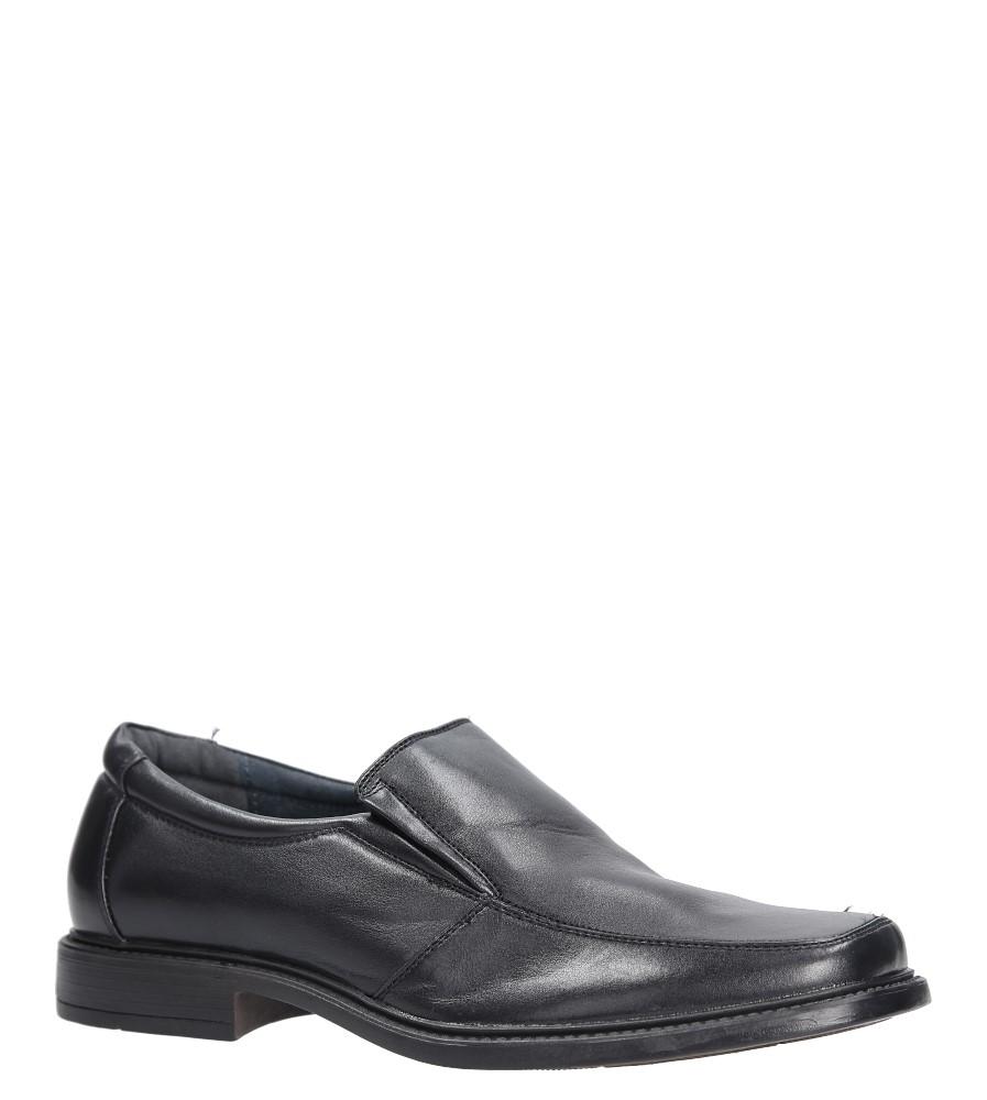 Czarne buty wizytowe Casu 879-3