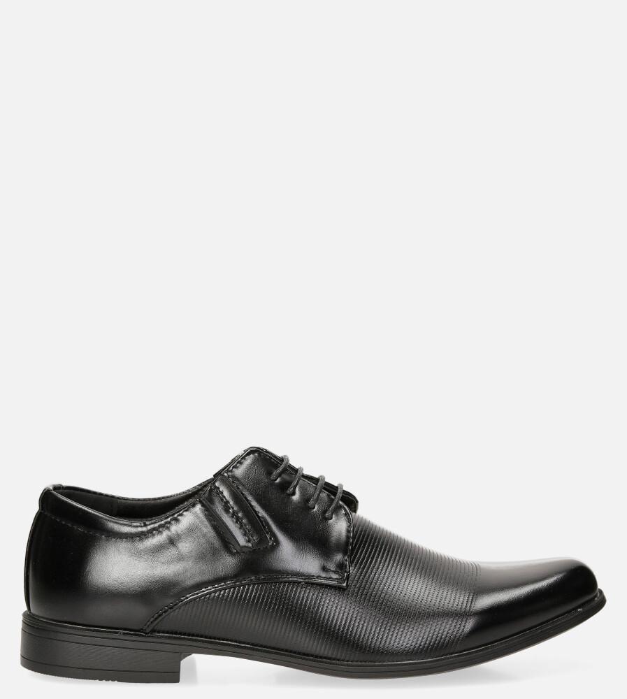 Czarne buty wizytowe Casu MXC396