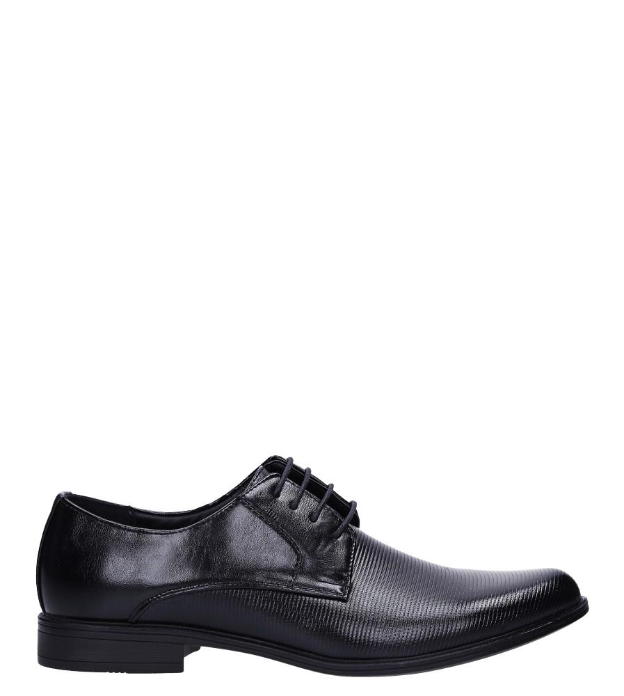 Czarne buty wizytowe Casu MXC398