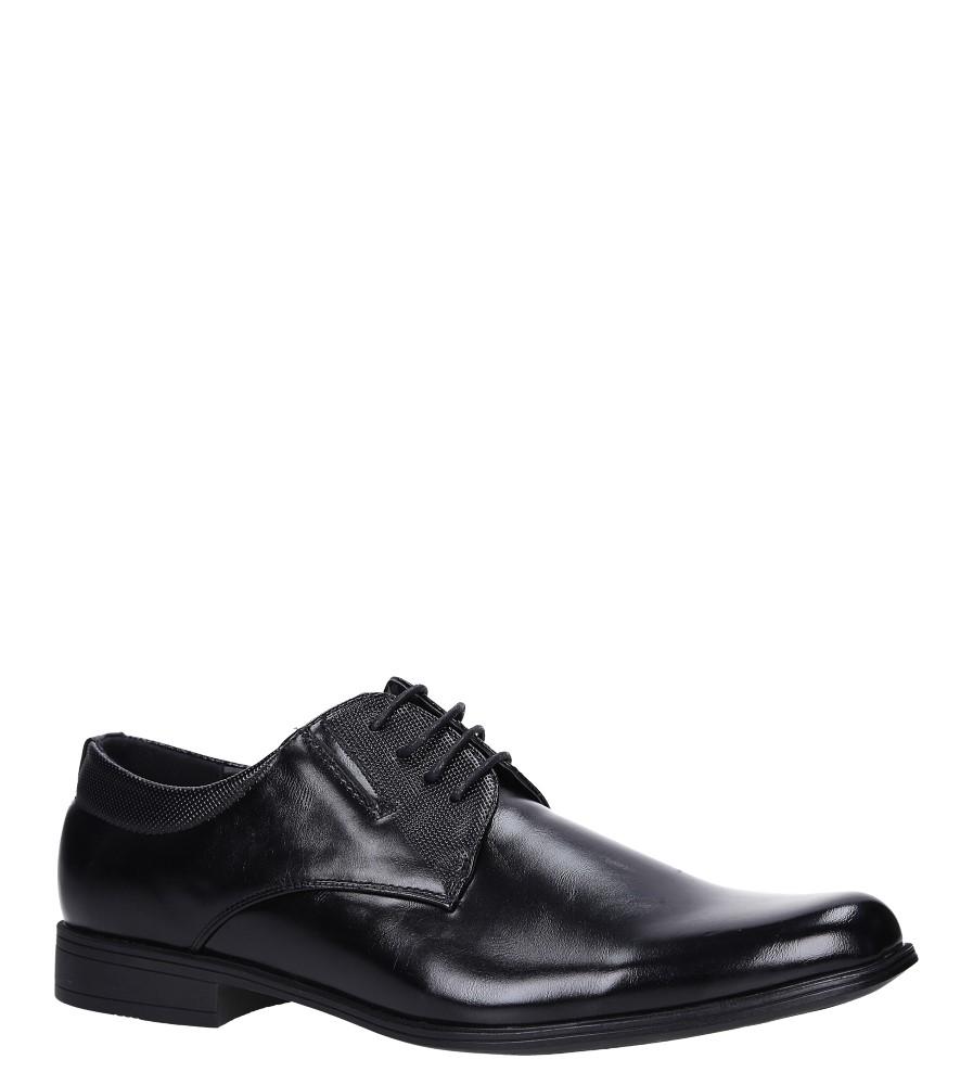 Czarne buty wizytowe Casu MXC401