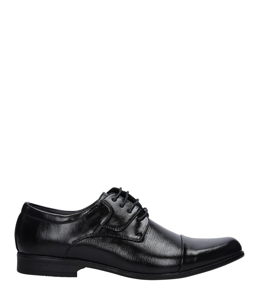 Czarne buty wizytowe Casu MXC402