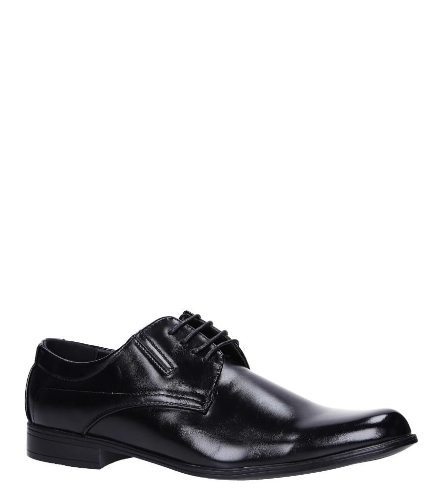 Czarne buty wizytowe Casu MXC403