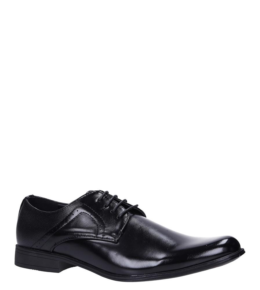 Czarne buty wizytowe Casu MXC404