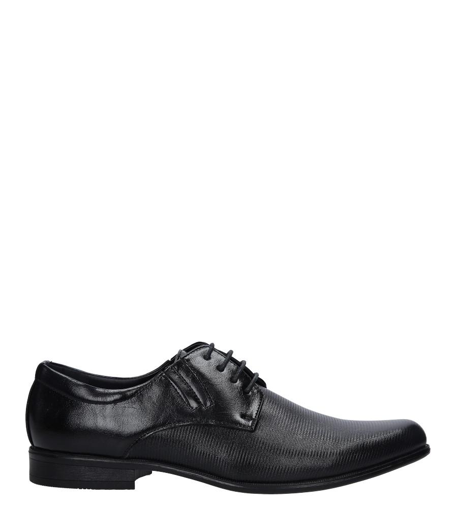 Czarne buty wizytowe Casu MXC417