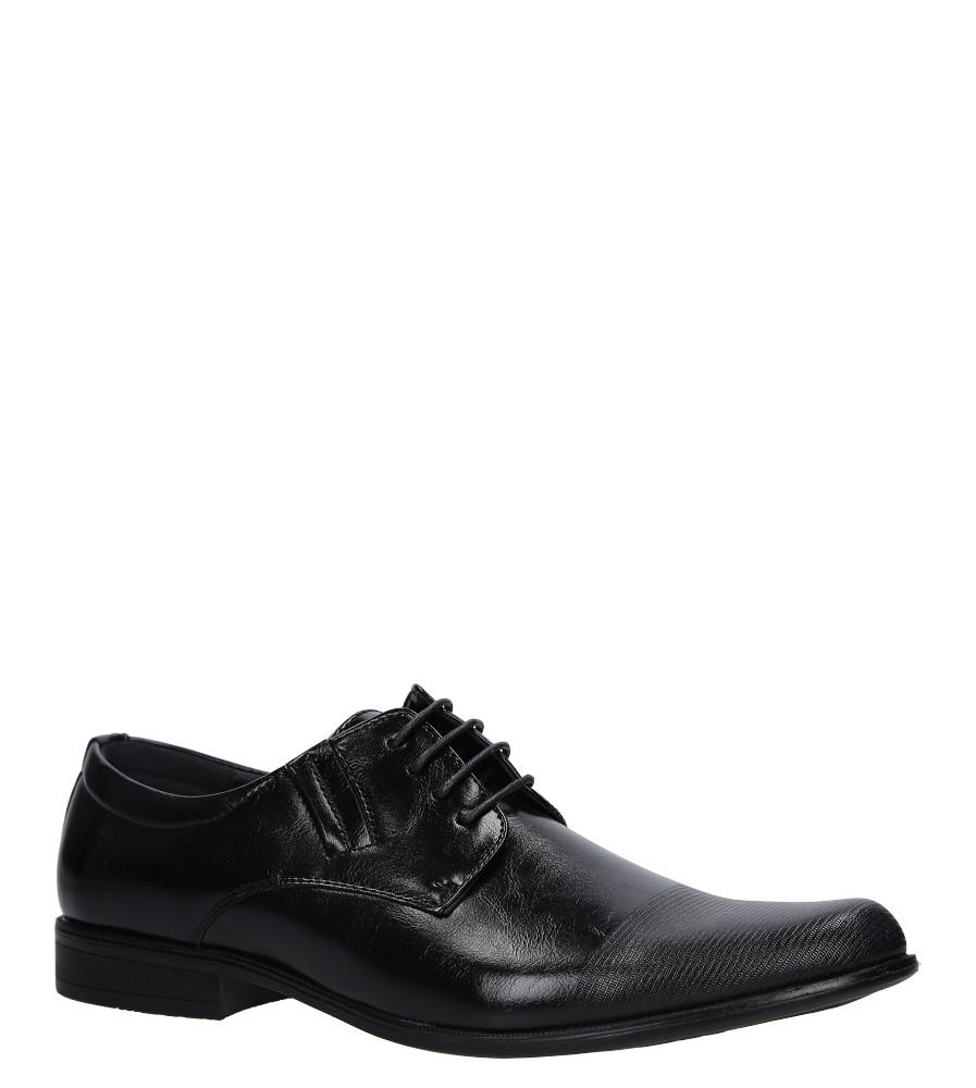 Czarne buty wizytowe Casu MXC418