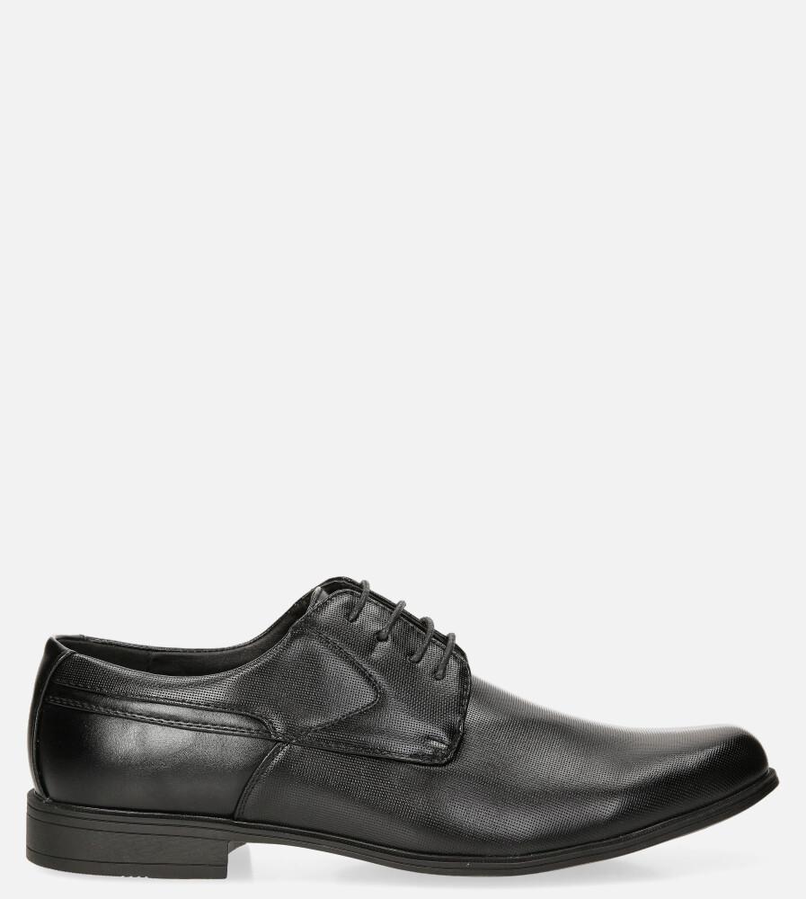 Czarne buty wizytowe Casu MXC427