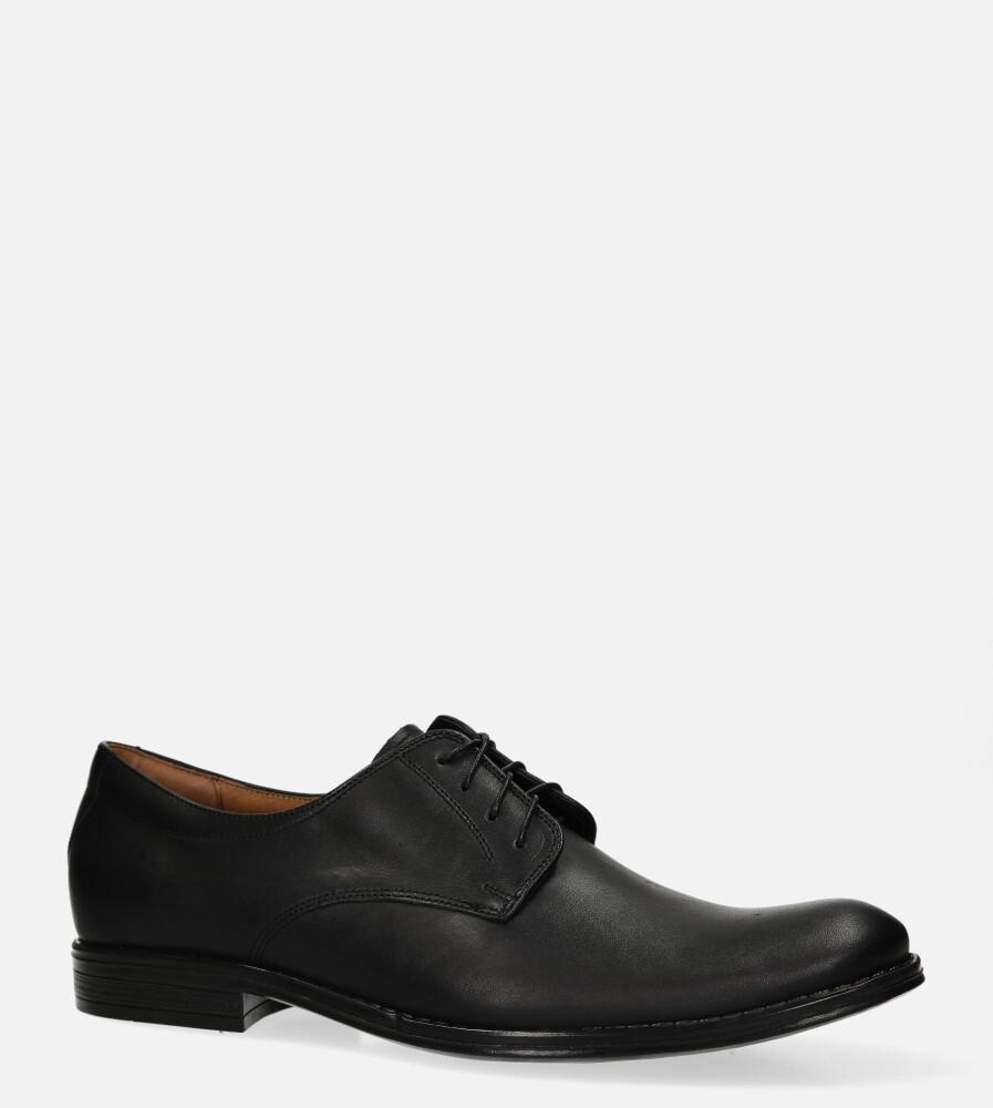 Czarne buty wizytowe skórzane sznurowane Windssor 0211/BC czarny