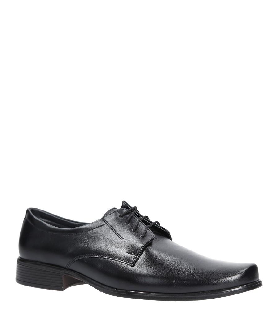Czarne buty wizytowe skórzane sznurowane Windssor 290