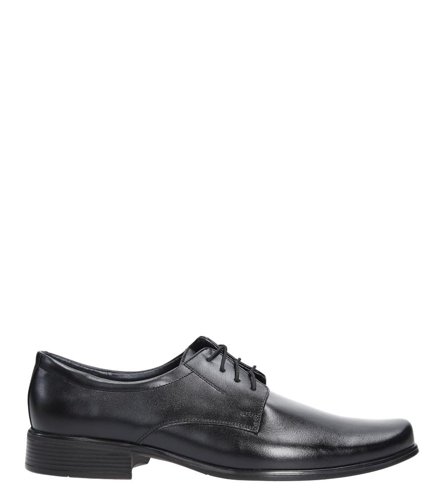Czarne buty wizytowe skórzane sznurowane Windssor 290 czarny