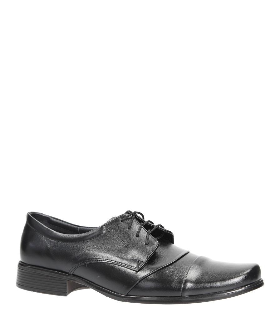 Czarne buty wizytowe skórzane sznurowane Windssor 293