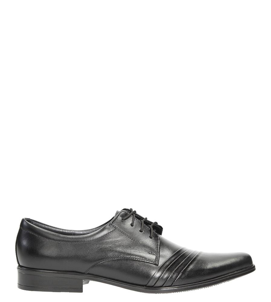 Czarne buty wizytowe skórzane sznurowane Windssor 420 czarny