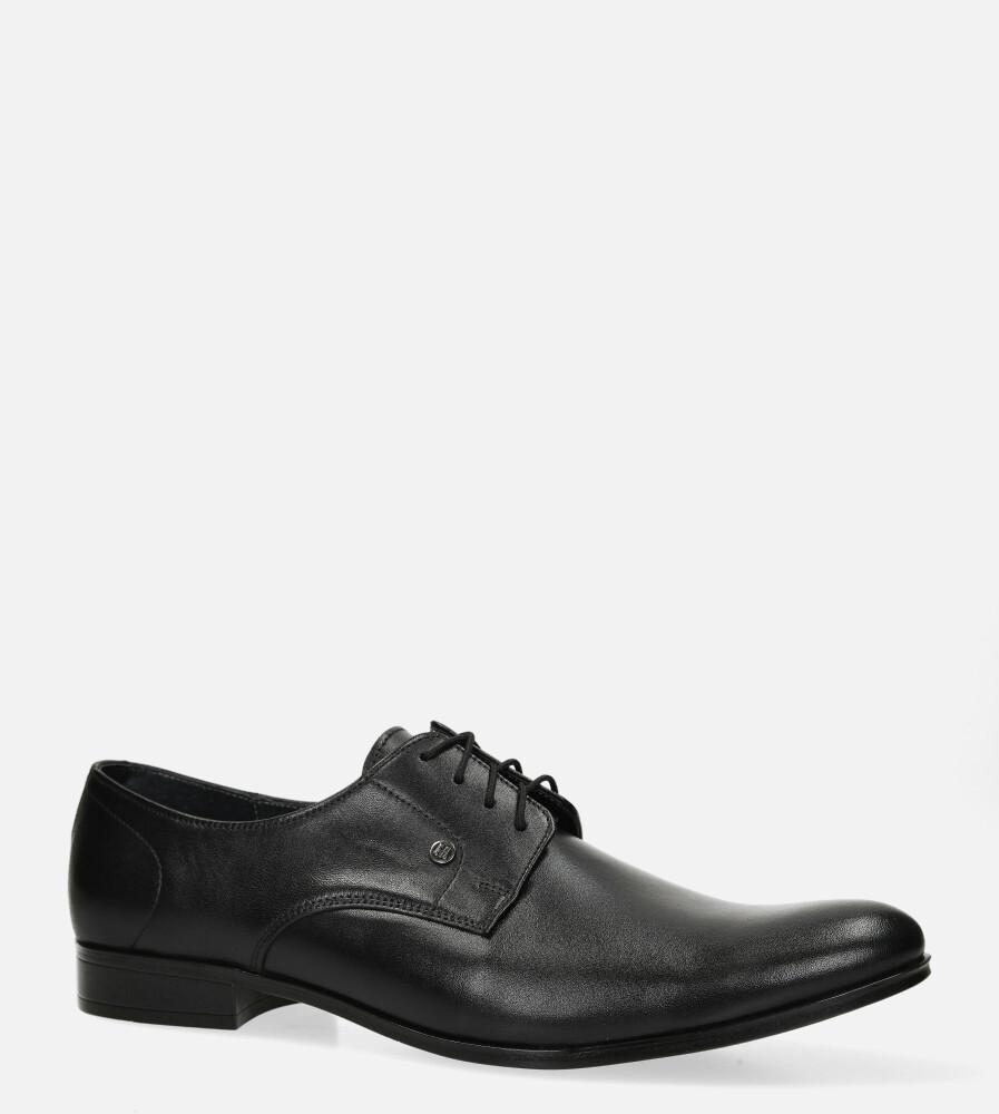 Czarne buty wizytowe skórzane sznurowane Windssor 624 czarny