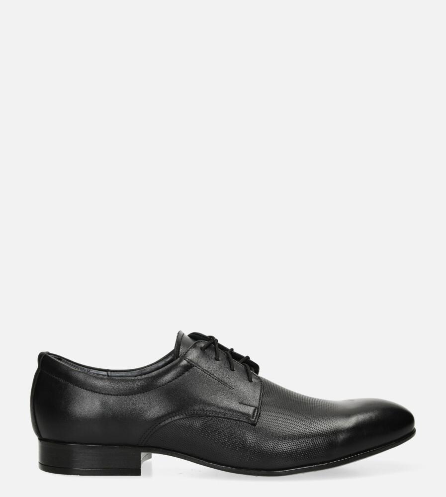 Czarne buty wizytowe skórzane sznurowane Windssor 650/MR czarny