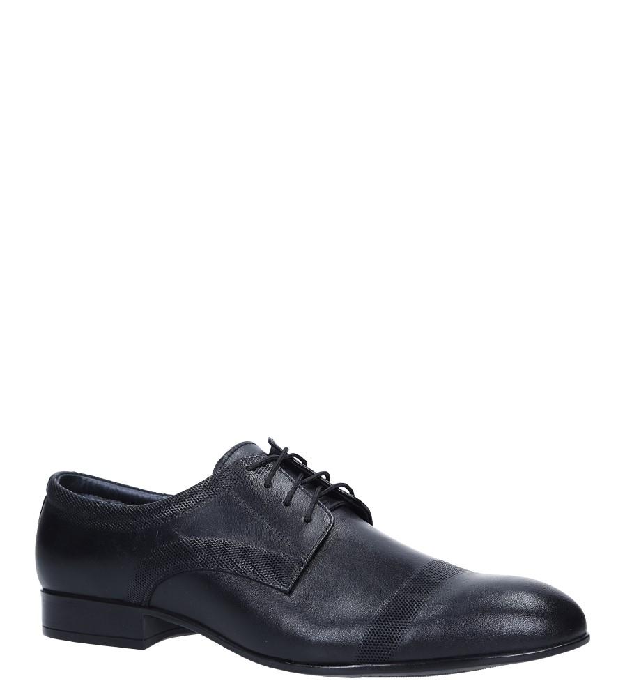 Czarne buty wizytowe skórzane sznurowane Windssor 652/MR