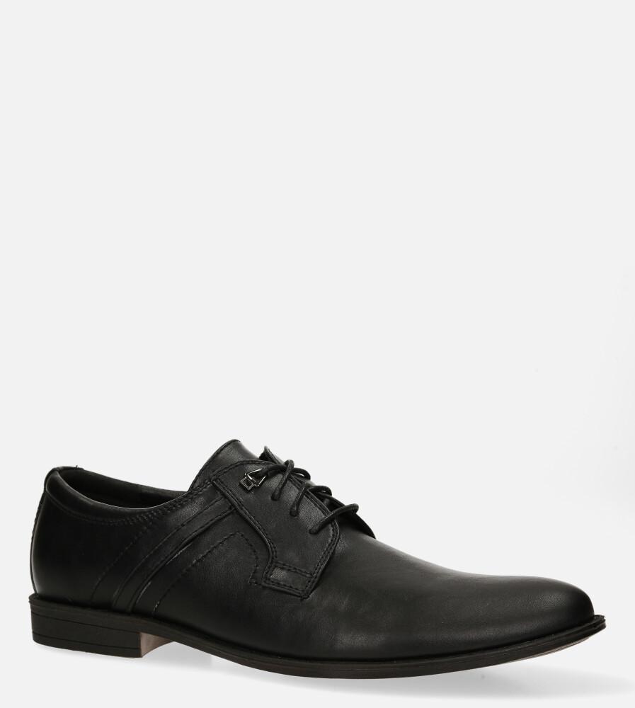 Czarne buty wizytowe sznurowane Casu 20D11/B czarny