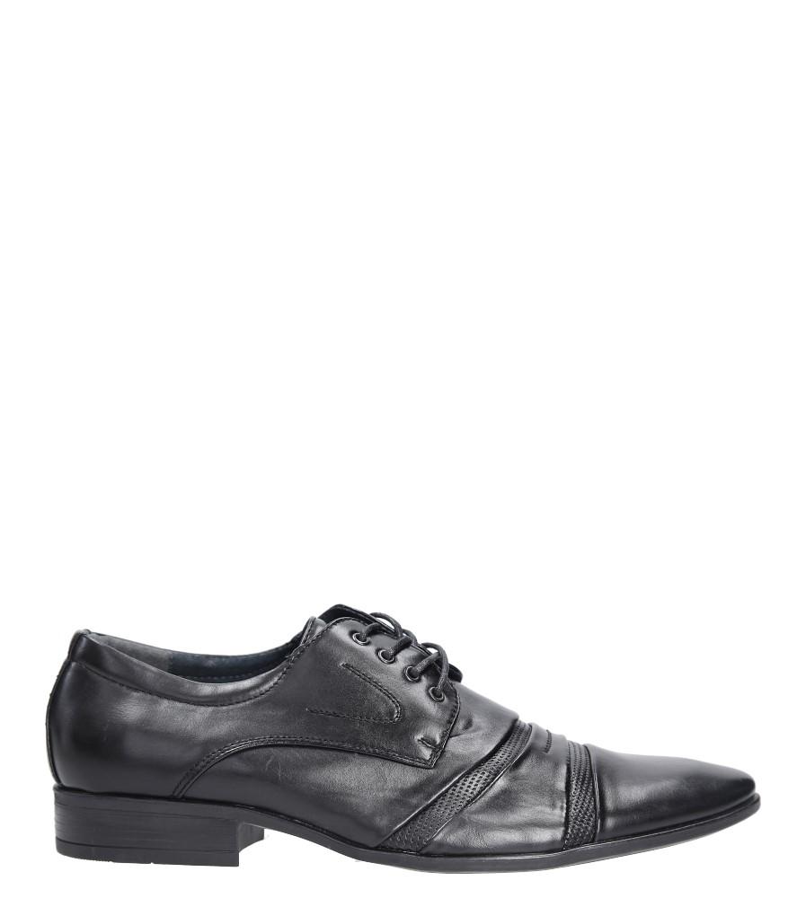 Czarne buty wizytowe sznurowane Casu 882-9