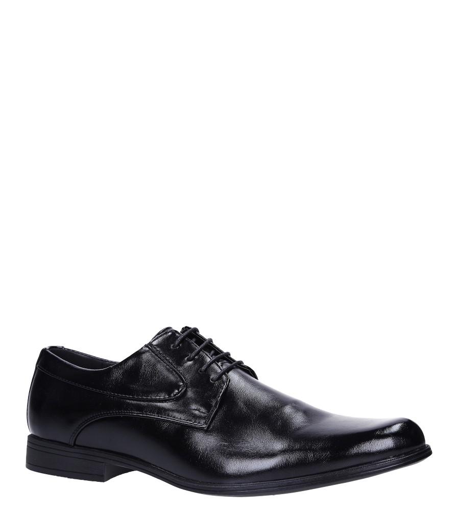 Czarne buty wizytowe sznurowane Casu EXC393