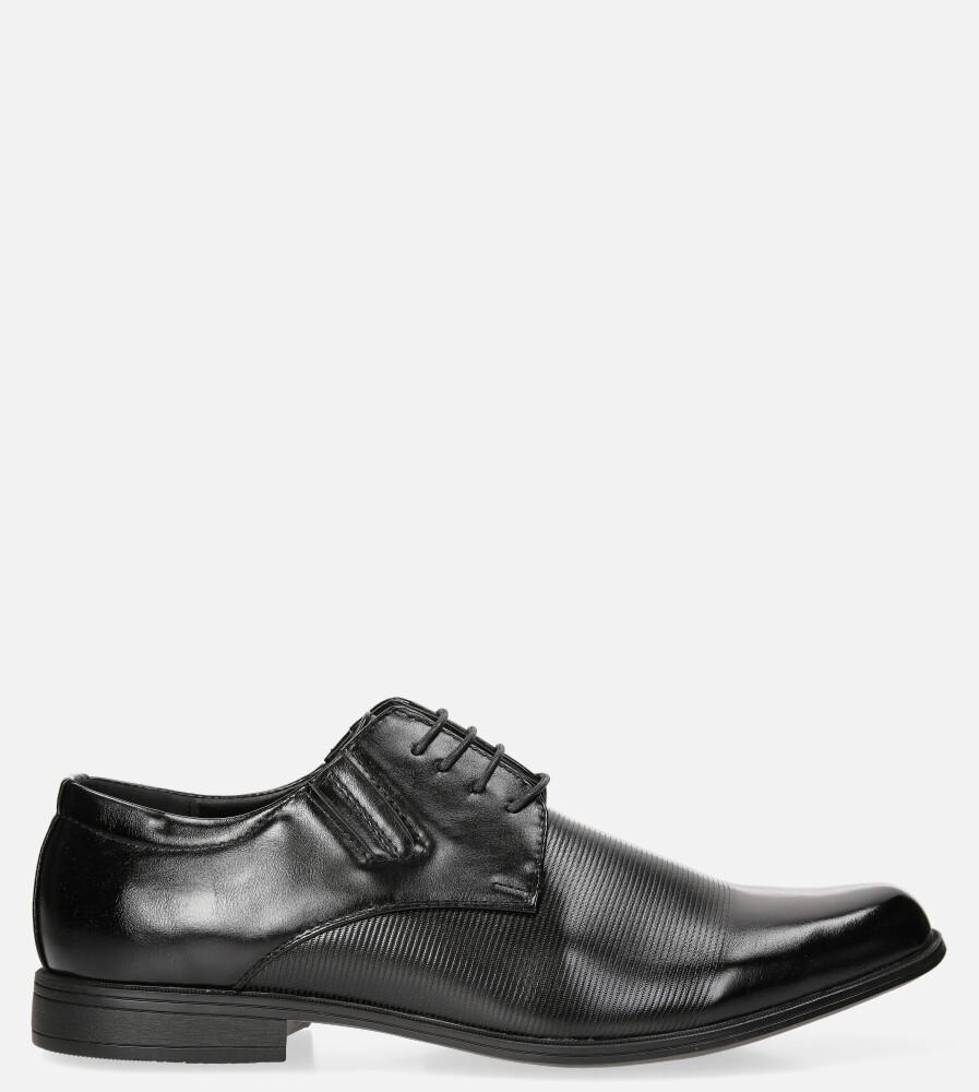 Czarne buty wizytowe sznurowane Casu EXC396