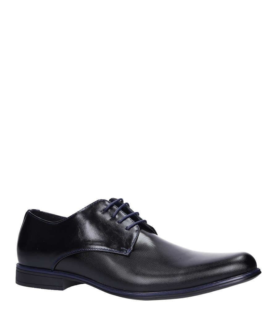 Czarne buty wizytowe sznurowane Casu EXC397