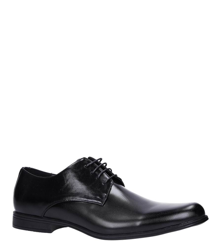 Czarne buty wizytowe sznurowane Casu EXC397 producent Casu