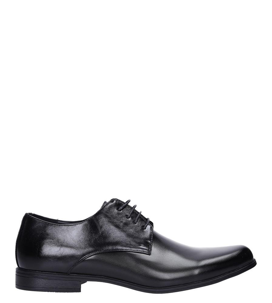 Czarne buty wizytowe sznurowane Casu EXC397 model EXC397