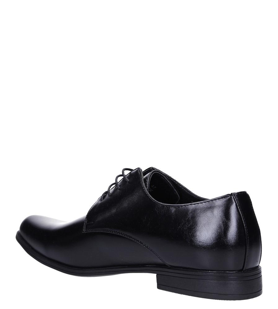 Czarne buty wizytowe sznurowane Casu EXC397 sezon Całoroczny
