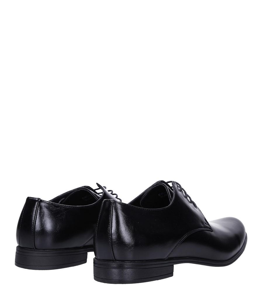 Czarne buty wizytowe sznurowane Casu EXC397 wysokosc_obcasa 2.5 cm