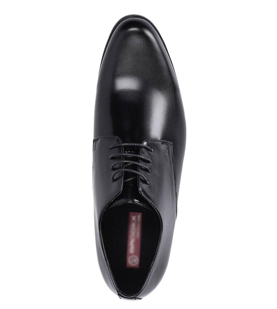 Czarne buty wizytowe sznurowane Casu EXC397 wysokosc_platformy 1 cm