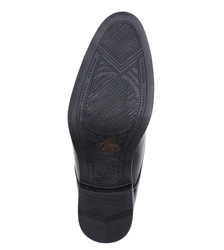 Czarne buty wizytowe sznurowane Casu EXC397 wys_calkowita_buta 12 cm