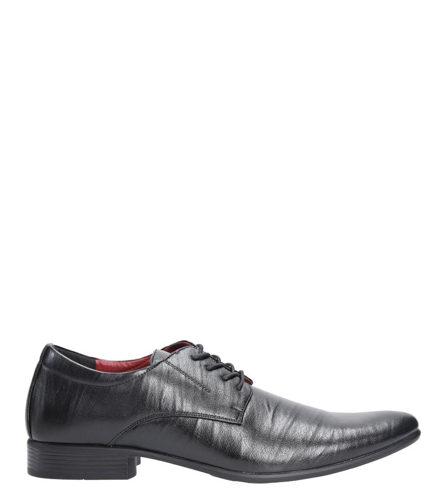 Czarne buty wizytowe sznurowane Casu FY1601A