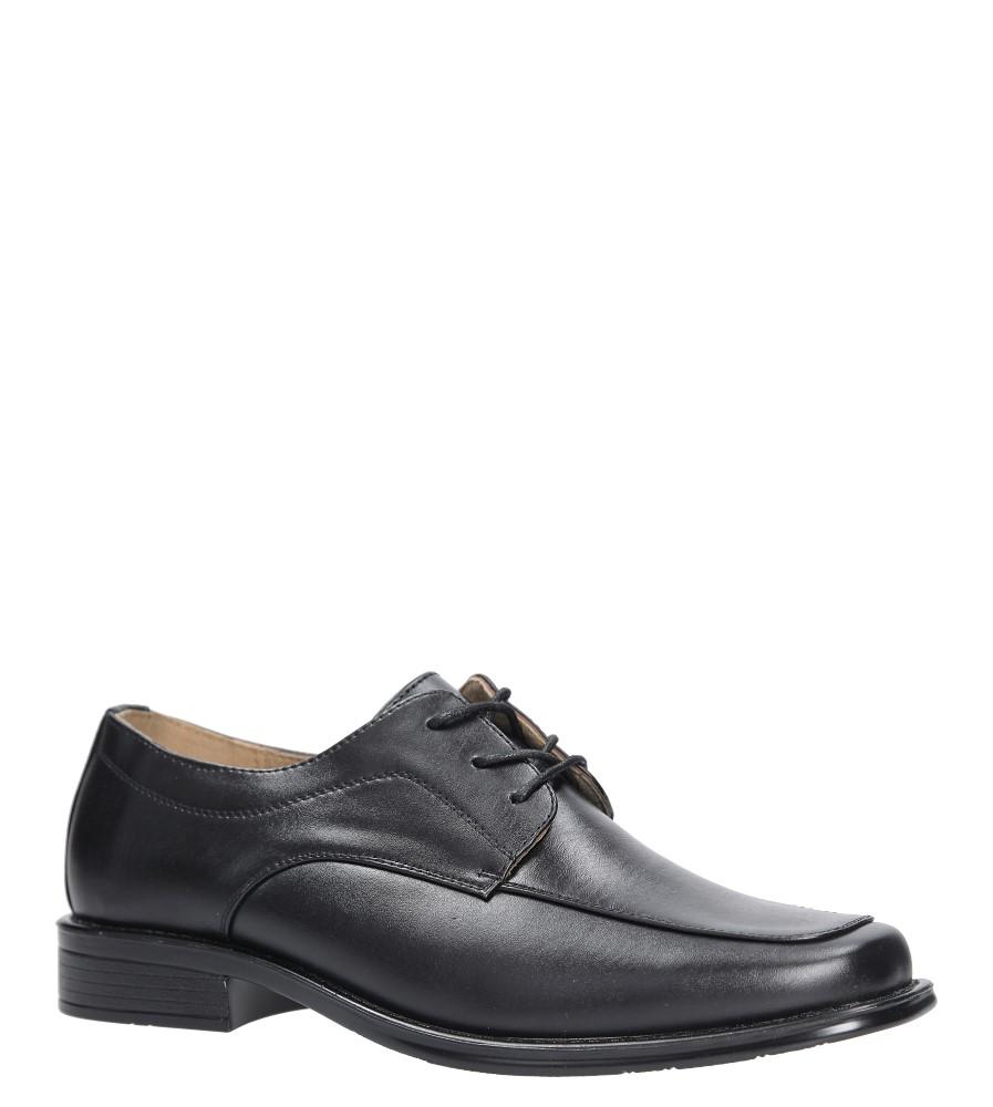 Czarne buty wizytowe sznurowane Casu FY1720