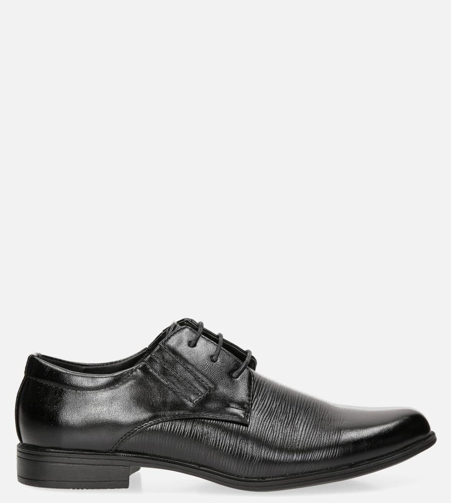 Czarne buty wizytowe sznurowane Casu LXC408