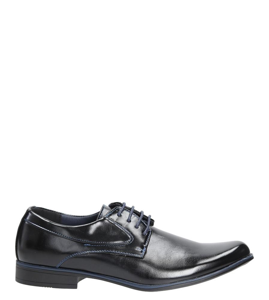 Czarne buty wizytowe sznurowane Casu MXC393 czarny