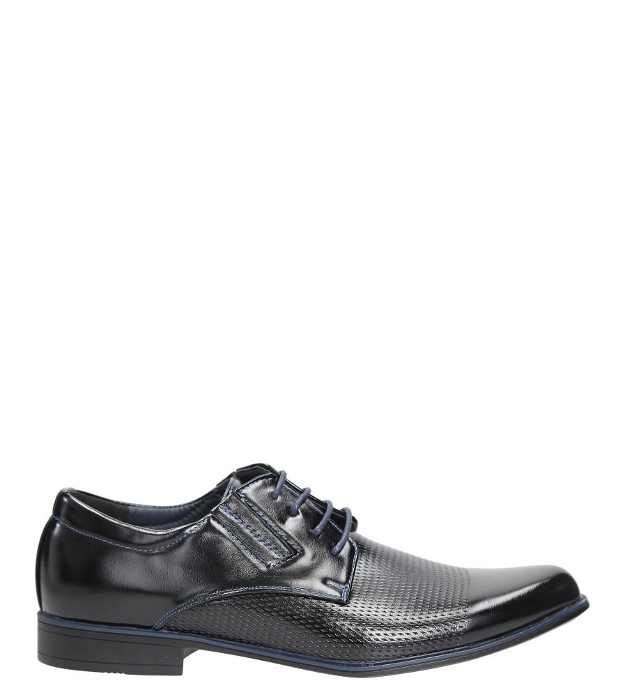 Czarne buty wizytowe sznurowane Casu MXC394