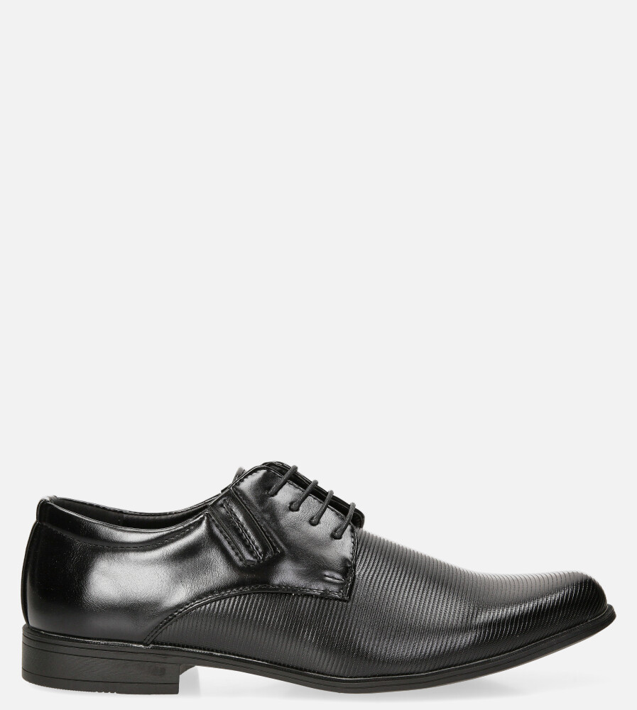 Czarne buty wizytowe sznurowane Casu MXC395