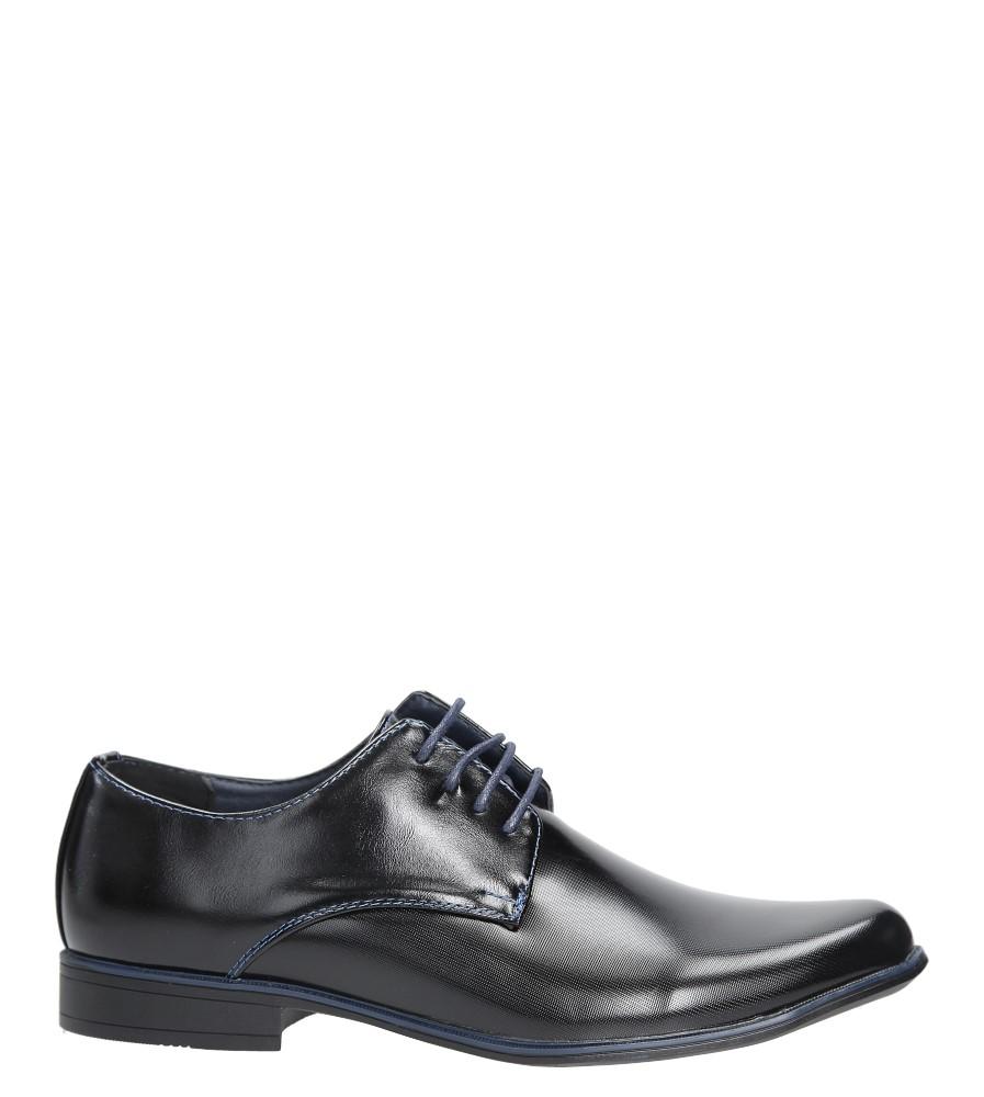 Czarne buty wizytowe sznurowane Casu MXC397